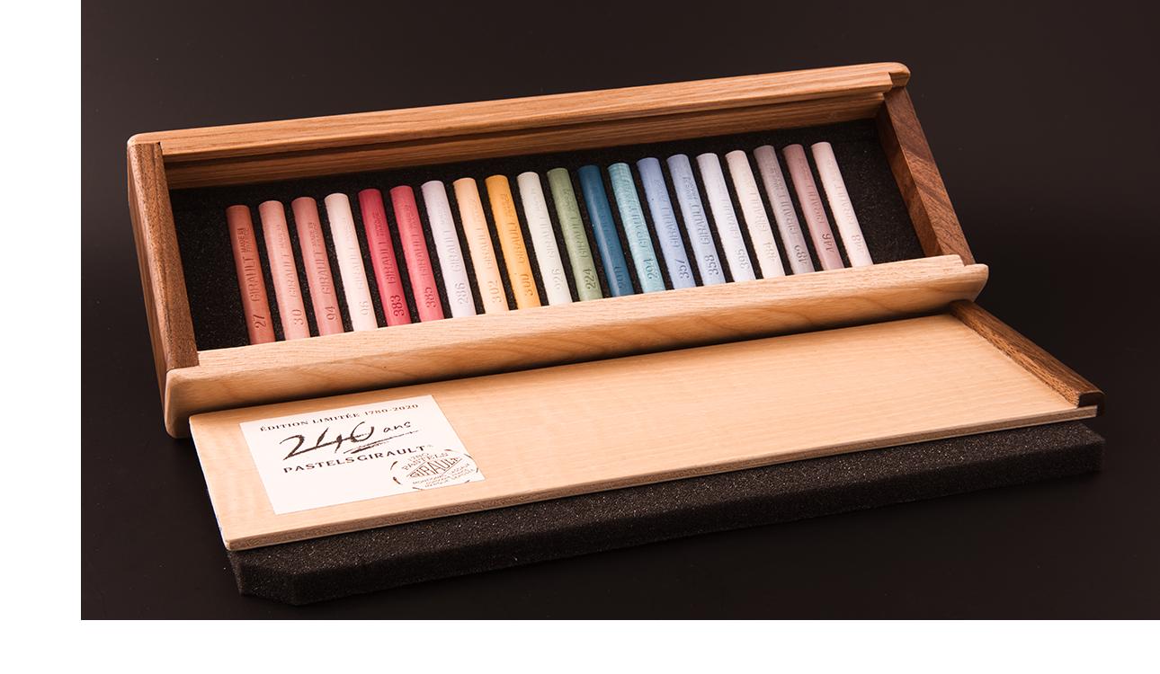 Coffret bois édition limitée numérotée - Pastels Girault